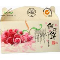 China Flower Cookies Cardboard Food Packaging Boxes , Disposable Cardboard Food Containers wholesale