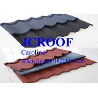 China Precision Coffe Black Stone Corrugated Roofing Metal Sheets Matching Valley And Ridge wholesale