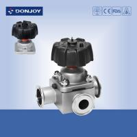 China 1 inch - 4 inch  Manual T type tee sanitary diaphragm valve with Clamp Ends 316L wholesale