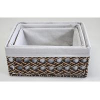 China 100% handwoven S/4 rectangle home storage basket with paper material wholesale