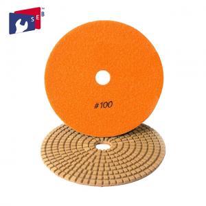 China Orange Diamond Stone Polishing Pads , 5 Inch Concrete Polishing Pads wholesale