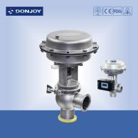 China Stainless steel sanitary diaphragm regulating pneumatic reversing valve with square positioner wholesale
