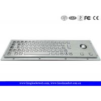 China Panel Mount Brushed Metal Industrial Keyboard With Trackball And 64 Keys wholesale