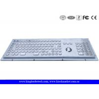 China Rugged Metal Industrial Keyboard With Trackball 103 Function Keys And Number Keypad wholesale