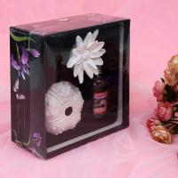 China OEM / ODM Diffusers Gift Packaging Boxes with Inner Velvet Tray and Transparent Plastic Cover TS-PB024 wholesale