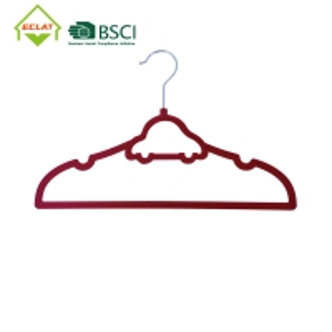 China Cute Car Shaped No Trace 33cm Non Slip Velvet Hangers wholesale