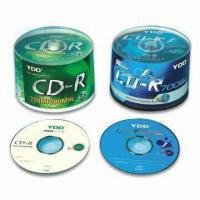 China Printed CD-R/Blank CD in Cake Box Pack with Colored Label wholesale