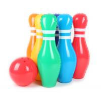 China 0.2mm Thickness Colorful Inflatable Kids Toys 20'' Bowling Pins Leak Resistant wholesale