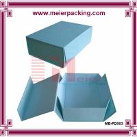 China Blue pantone printing recyclable grey paper folding gift box Retail expandable file folder for sale wholesale