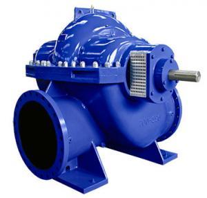 China Big Flow Double Suction Volute Pump , Horizontal Split Case Pump Electric / Diesel Motor wholesale