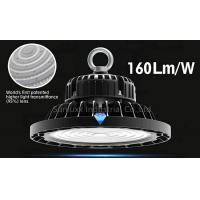 China 3 In 1 Dimmable UFO High Bay Warehouse Lighting Fixture With Black Color Shell wholesale
