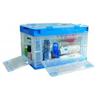 China Safe Plastic Storage Crates With Lids Plastic Storage Bin House Hold Using on sale