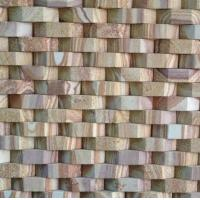 China Yellow Wooden Sandstone 3D Culture Stone,Outdoor Stone Cladding,Yellow Culture Stone,Sandstone Ledger Panels wholesale