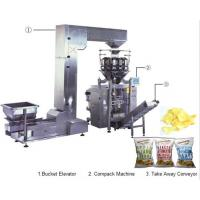 China Automatic snacks chips  weighing vertical forming filling sealing machine weighing packaging system wholesale