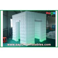 China 2 Doors Inflatable Photo Booth LED Light 2.5m Color Changed With Blower wholesale