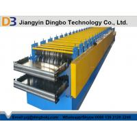 China Roof Panel Roll Forming Machine With Hydraulic Cutting Type For Steel-structure Warehouse wholesale