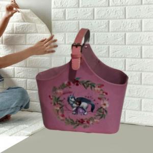 China Wine Baskets Wine Gift Baskets Wholesale Faux Leather Gift Hamper Basket Gift Ideas Tote Basket wholesale