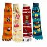 China Seamless animal kids mismatched novelty design knitted Knee high cotton tube socks wholesale