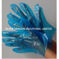 China Blue HDPE disposable gloves, Embossed, Size S,M,L wholesale