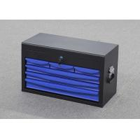 China 4 Drawers 24 Inch Steel Rolling Tool Cabinet Blue Storage Top Tool Chests wholesale