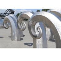 China Public Art Large Metal Wave Sculpture , Outdoor Abstract Steel Sculpture wholesale