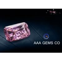 China Radiant Cut Colored Pink Moissanite For Decoration VVS1 In Clarity wholesale