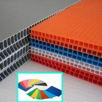 China 2440x1220mm 4x8 2mm 3mm 5mm Twin Wall Corrugated Sheet , PP Flute Sheet wholesale
