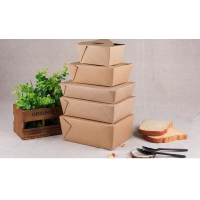 China FDA Egg Fried Rice Oil-Proof Disposable Kraft Paper Lunch Box wholesale