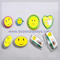China Custom Design ID Badge Holder With Clip For Work Permit on sale