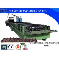 Buy cheap Automatic Continuous PU Sandwich Panel Machinery With Non-stop Cutting Device from wholesalers