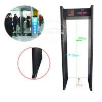 China Six Zones Body Scanner Metal Detector Walk Through 0 To 99 Sensitivity wholesale