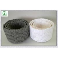 China beautiful paper rope handwoven storage basket with round shape, set of 3 wholesale