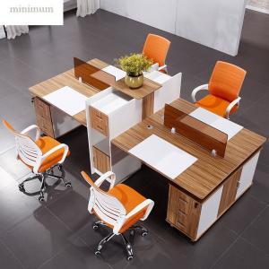 China Interior Design Office Workstation Partition Veneer Finish Standard Size wholesale