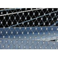 China Ferruled Stainless Steel Wire Rope Mesh For Decoration AISI 316 Diamond Shape wholesale