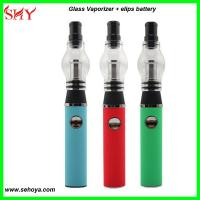 China 2014 high quality wax glass globe vaporizer with replaceable coil Pyrex Glass atomizer wholesale