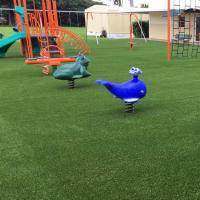 China Always Green Artificial Grass Playground Surface 4*25m 2*25m Or Customized on sale
