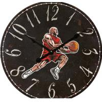 China Antique Jordan Basketball Shot Clock Wall Decor  Custom printed glass wall clock for home decoration wholesale