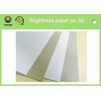 China Anti Curl Whiteness Grey Back Duplex Board With One Side Offset Printing wholesale
