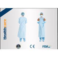 China Dark Green Disposable Surgical Gown Non Woven  Lab Gowns Lightweight Blood Proof wholesale