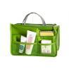 China Nylon Green Handbag Travel Toiletry Bag Beauty Cosmetic Hanging Cosmetic Organizer wholesale