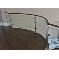 China Outdoor Terrace Stainless Steel Glass Balustrade 316SS Post Glass Railing Modern Design on sale