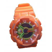 China Orange G Sport Shock Analog-digital Watches Two Time Zone EL Backlight wholesale