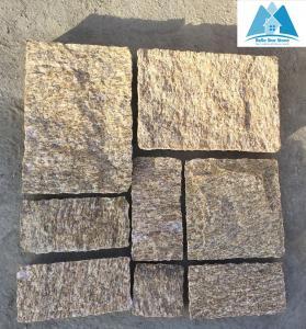 China Tiger Skin Yellow Granite Stone Paving Stone Patio Flooring Walkway Pavers Stone Pavement wholesale
