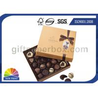 China High End Chocolate Packaging Box With Ribbon For Valentine'S Day Gifts Packaging on sale