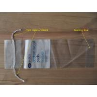 China LDPE Clear Drawstring Plastic Bags With Perforation For Cotton Wool Pads wholesale