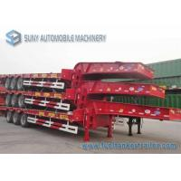 China 3 Axles Heavy Duty Container Flatbed Semi Trailer Length 13 m wholesale
