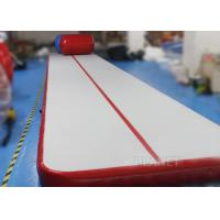 China Safety Inflatable Air Tumble Track DWF / Drop Stitch Material For Gymnastics wholesale