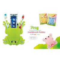 China TOOTHBRUSH & TOOTHPASTE HOLDER - FROG DESIGN (4 ASSORTED COLORS) wholesale