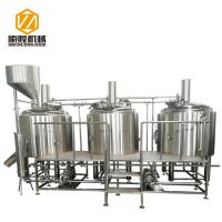 Buy cheap 500L malt hopper three vessels stainless steel microbrewery brewing equipment from wholesalers