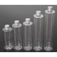 China Plastic PET 200/250/280/350/400ml Round Shape Transparent Color Bottle For Cosmetic wholesale